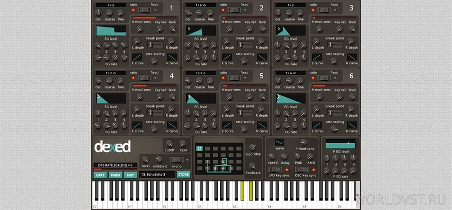 Dexed 0.9.0 [WiN] [MAC] - FM синтезатор